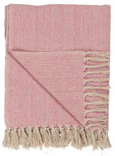 Ib Laursen 6544-07 Plaid Rosa Creme 160x130cm Woll- Kuschel- Tages- Decke