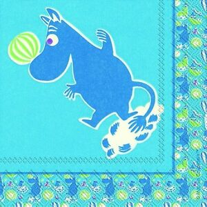 Moomintroll-Blue-blue-paper-cocktail-tea-napkins-20-pack-25cm-square-3-ply