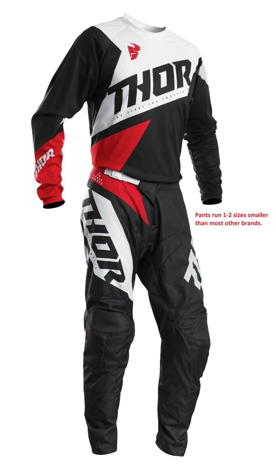 Thor Sector Shear Black// Gray Gear Combo 36//XL Motocross ATV Offroad