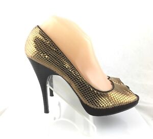 3cc509785ab Calvin Klein Pari Womens Peep Toe Pumps Heels Snake Skin print shoes ...