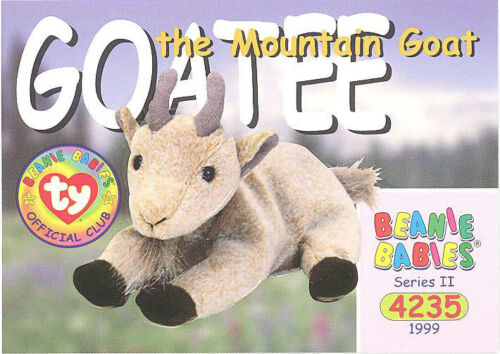 NM//M GOATEE the Mountain Goat TY Beanie Babies BBOC Card Series 2 Common