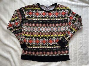 H M Divided Lightweight Sweatshirt Sz L Ebay