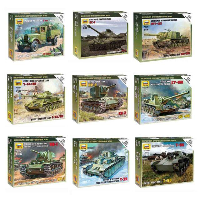 "Model Kits ""Soviet tanks / motorized forces 1939-45 WWII"" 1:100 Zvezda, part 2"