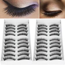 20 Pairs Natural Long Makeup False Fake Eyelash Eye Lashes Extension Set Black