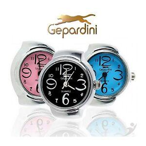 034-Gepardini-Ring-Uhr-034-fuer-alle-die-ein-wenig-anders-ticken-3-Farben-waehlbar