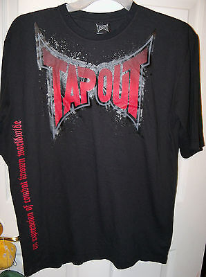 20 NWT  #7 Tapout MMA Black Short Sleeve Shirt Boys Size 18