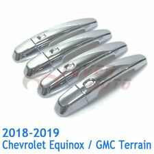 2018-2019 Chevy Equinox GMC Terrain GLOSS BLACK Door Handle Covers W//4HL+Mirrors