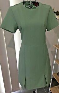 Women-039-s-Dress-Zalora-Split-Hem-Pale-Green-Short-Sleeves-Sz-S-BNWT
