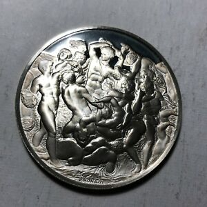 Battle-of-the-Centaurs-The-Genius-of-Michelangelo-1-26oz-Sterling-Silver-Medal