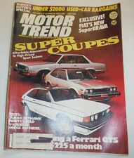 Motor Trend Magazine Super Coupes & Fiat's New Brava June 1978 123014R2