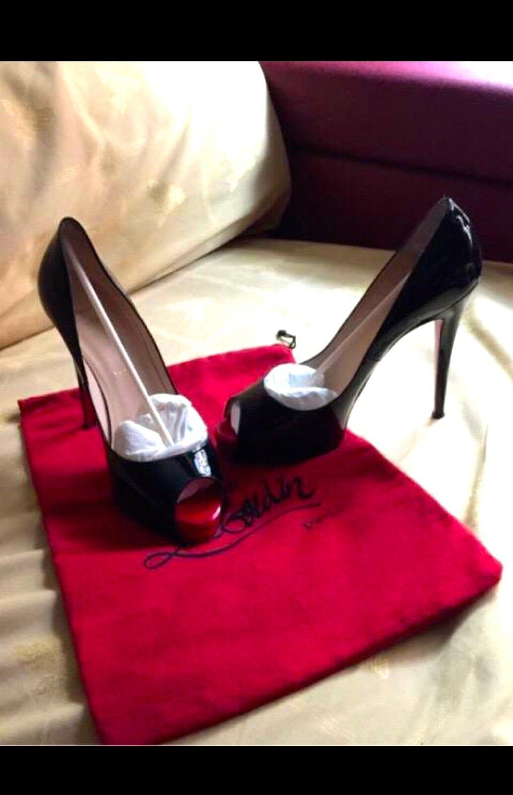 Louboutin Size 8'5 Rojos Fregado Zapatos Y 80f3ae Negros es Cubo 54RLAj