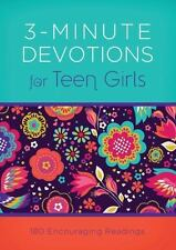 3-Minute Devotions: 3-Minute Devotions for Teen Girls : 180 Encouraging Readings by Babour Staff and April Frazier (2015, Paperback)