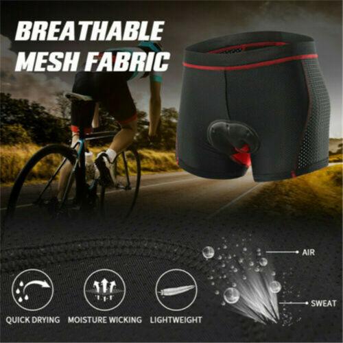 Herren Fahrradhose Mit 5D Gel Sitzpolster Radhose MTB Radlerhose Unterhose Short