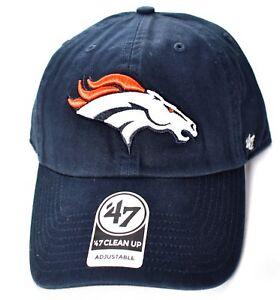bcaa10d8dd3 DENVER BRONCOS  47 Brand Clean Up Hat Cap Adjustable NFL Navy Forty ...