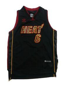 Adidas Lebron James Miami Heat Kid Jersey Size Youth M Black Limited Edition Ebay