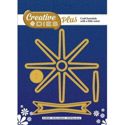 Creative Dies Plus 3D Gift Bow Die Set Gift Box Collection