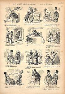 Depute-Raspail-Orateur-Senat-Bourse-de-Paris-Crue-la-Seine-par-Cham-GRAVURE-1876