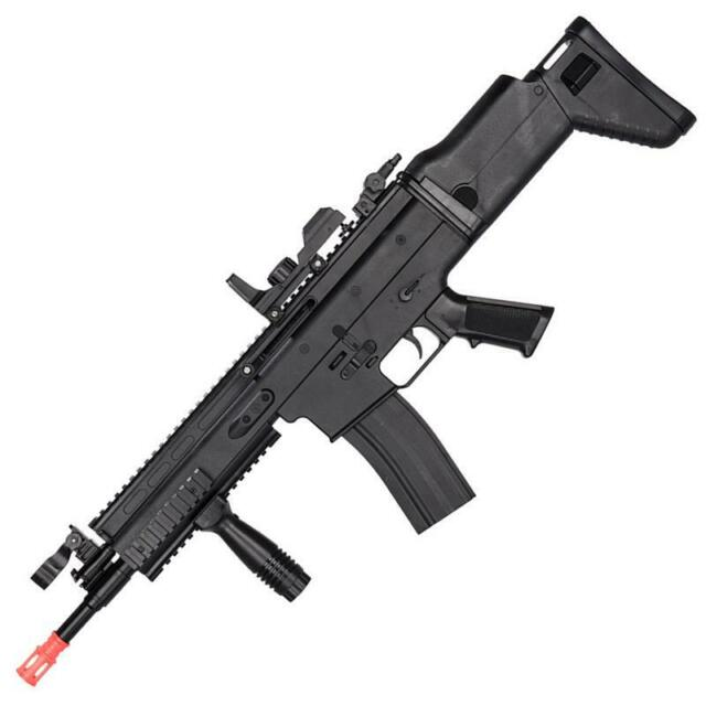 Uk Arms Mk16 Spring Rifle Airsoft Gun W Red Dot Sight Foregrip Black 31534 For Sale Online Ebay