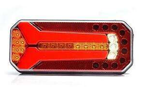 LED-Rueckleuchte-L-R-Lauflicht-Blinker-6-Funktionen-236-x-104mm-LKW-KZ-seite