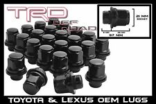 24 Pc OEM Black Toyota Lexus Mag Lug Nuts W/ Washer 12x1.5 Stock Wheels OE