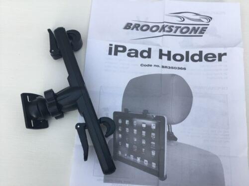 BR350366 360 grados de rotación Brookstone Soporte para iPad asiento de coche Touring,