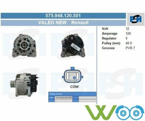 Original Valeo Lichtmaschine Generator  DACIA RENAULT SMART DUST 575.948.120.501