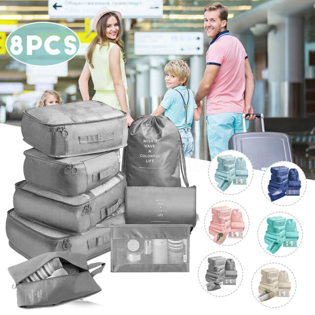 Travel Storage Bags Waterproof Clothes Packing Cube-Luggage Organizer 5 Pcs//Set