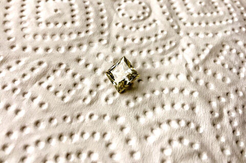 Smykker og sten, NEDSAT - Moissanite Brilliant, Princess