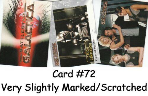 #72 V Slightly Damaged Battlestar Galactica Premiere 72 Card Basic//Base Set