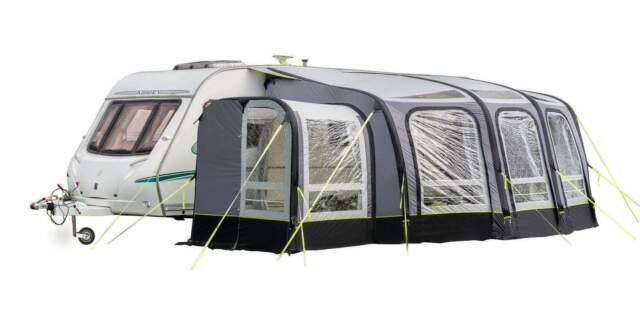 OLPRO View Caravan Awning 420 Porch Large Windows ...
