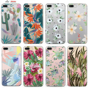 Custodia-Cover-Design-Pianta-Fiori-Per-Apple-iPhone-4-4s-5-5s-5c-6-6s-7-Plus-SE