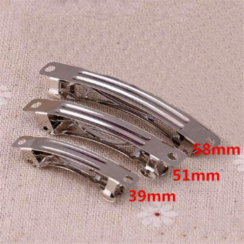 Lots 39//51//58mm  French Barrettes Hairpin Clips Findings DIY Hair Accessories