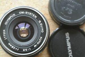 Olympus-Zuiko-Auto-W-28mm-1-3-5-Lens-NICE