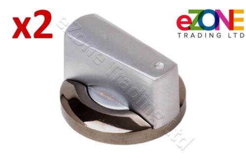 2x Universal Control Knob Fits Griddles Grills 8mm Shaft Heavy Duty Construction