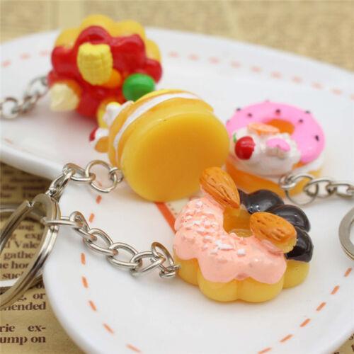 Sweet Cake Keychain Pendant Bread Food Keyring Gift  Bag Purse Key Chain cb