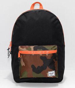 Herschel-Supply-Co-Heritage-Black-Woodland-Camo-Backpack-NEW