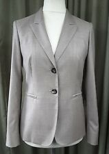 Max Mara Taupe Wool/Silk Trouser Suit 10-12 EXCELLENT CONDITION