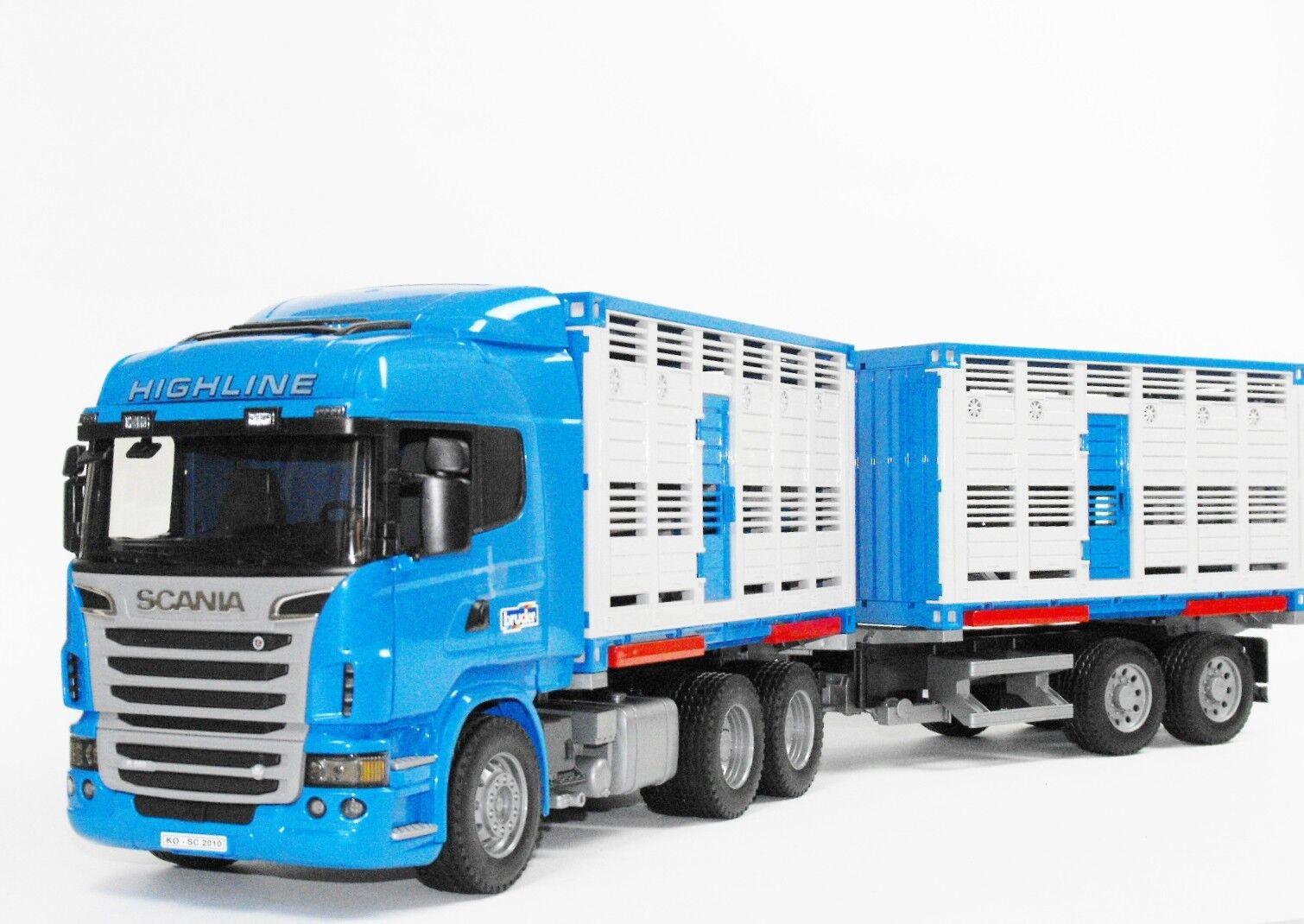 Bruder 03549 Scania R-Serie Tiertransport–Wechselbrücke Spielergänzung Bauernhof