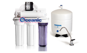 5 Stage RO Home Reverse Osmosis Water Filter System 75 GPD + Permeate Pump 1000