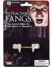 Deluxe Costume Disappearing Retractable Vampire Fangs