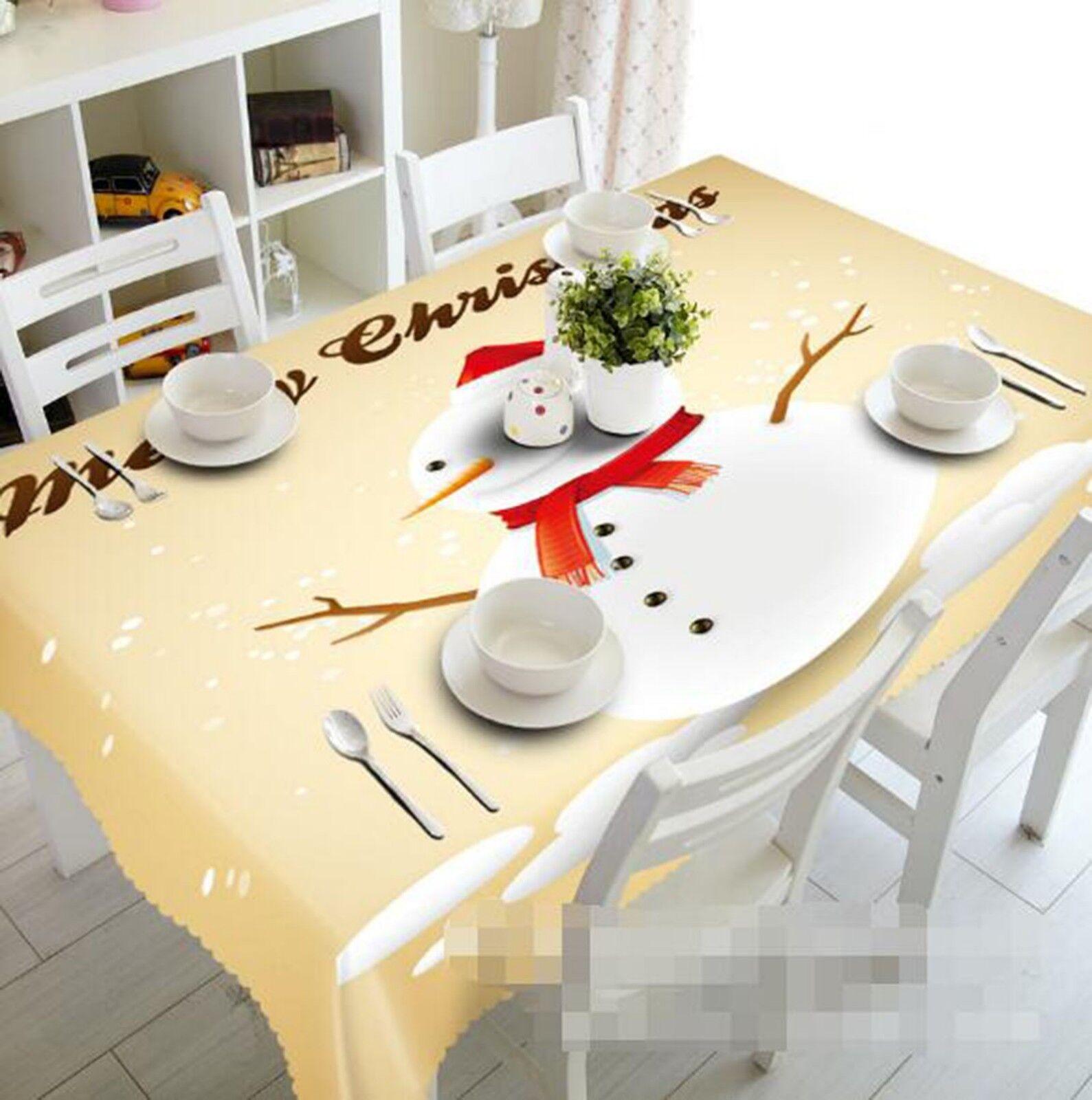 3D Snowman 133 Tischdecken Kleidung Geburtstagsfeier Event AJ Lemon