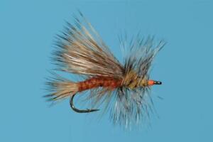 Orange Stimulator size 8 dry flies 1 Dozen 12