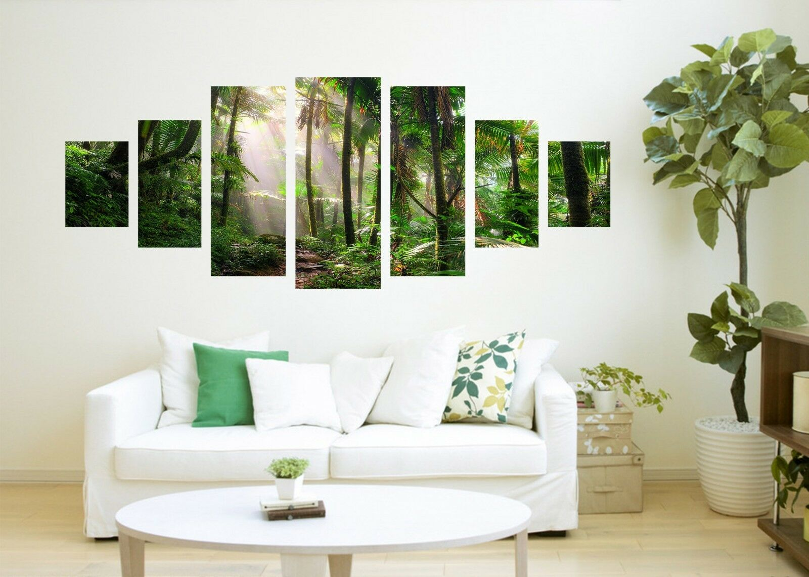 3D Sunny Trees View 84 Unframed Print Wall Paper Decal Wall Deco Indoor AJ Jenny