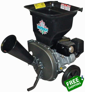 Patriot Products CSV-3100B 10 HP Briggs & Stratton Gas-Powered Wood Chipper/Leaf