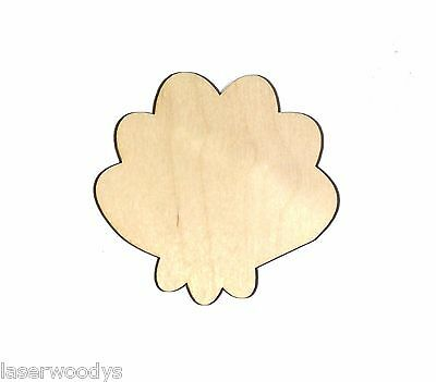 Susie Seashell Unfinished Flat Wood Shape SS5233 Variety Sizes Laser Crafts