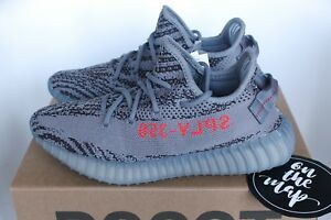 3c19438c4 Adidas Yeezy Boost 350 V2 Beluga 2.0 Grey Orange AH2203 3 4 5 6 ...