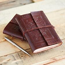 Indra Fair Trade Handmade Medium Single Bound Leather Notebook Diary