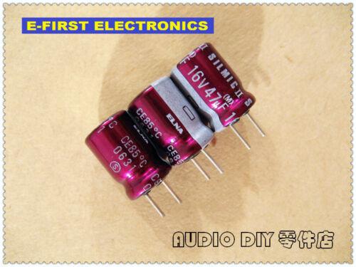 10pcs//100pcs ELNA SILMIC II 47uF//16V 47UF 8X11.5MM audio electrolytic capacitor