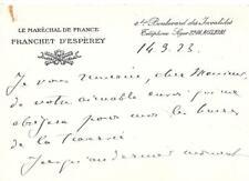 LE MARÉCHAL DE FRANCE FRANCHET D'ESPEREY