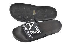 3bee28c8ac5a Emporio Armani EA7 Mens Sea World Slides Pool Beach Slippers Sandals Black  New